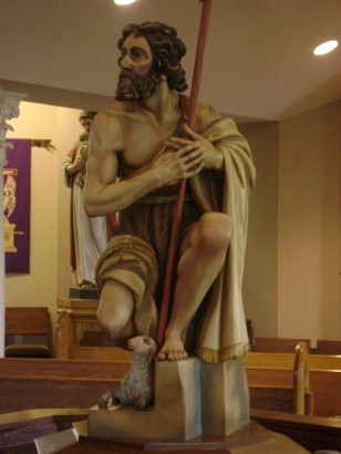 John the Baptist: Baptismal Font @ Our Savior Lutheran Church Houston, Texas